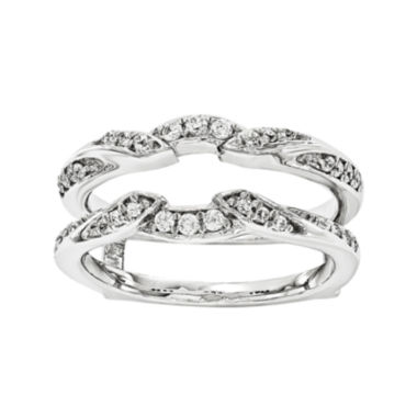 jcpenney.com | 1/3 CT. T.W. Diamond 14K White Gold Ring Guard