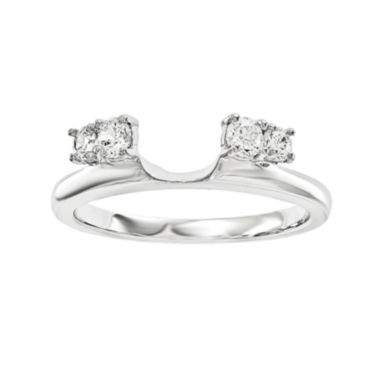 jcpenney.com | 1/4 CT. T.W. Diamond 14K White Gold Ring Wrap