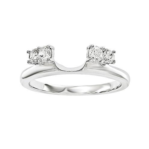 1/4 CT. T.W. Diamond 14K White Gold Ring Wrap