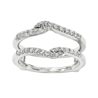jcpenney.com | 1/4 CT. T.W. Diamond 14K White Gold Ring Guard