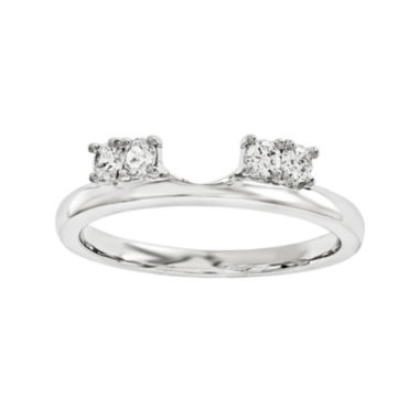 jcpenney.com | 1/6 CT. T.W. Diamond 14K White Gold Ring Wrap