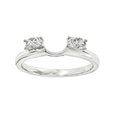 jcpenney.com | 1/7 CT. T.W. Diamond 14K White Gold Ring Wrap