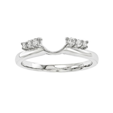jcpenney.com | 1/7 CT. T.W. Diamond 14K White Gold Wrap Ring