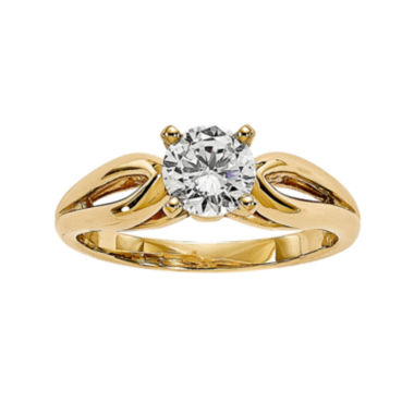 jcpenney.com | 1/2 CT. Diamond 14K Yellow Gold Solitaire Ring