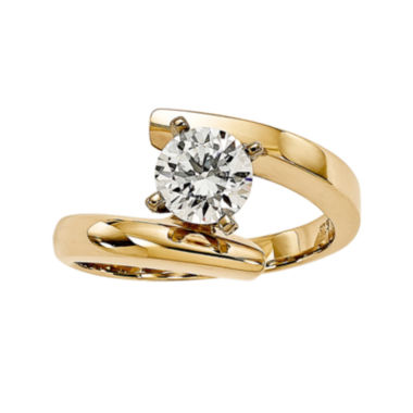 jcpenney.com | 3/4 CT. Diamond 14K Yellow Gold Solitaire Ring