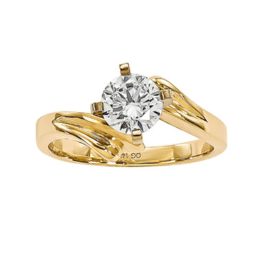 jcpenney.com | 1 CT. Diamond 14K Yellow Gold Solitaire Ring