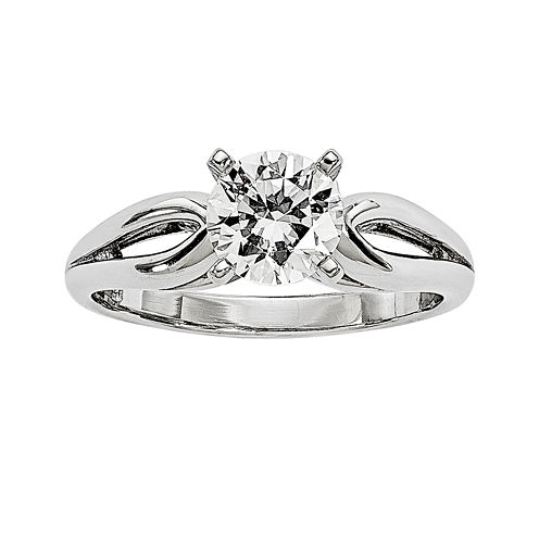 1/2 CT. Diamond 14K White Gold Solitaire Ring