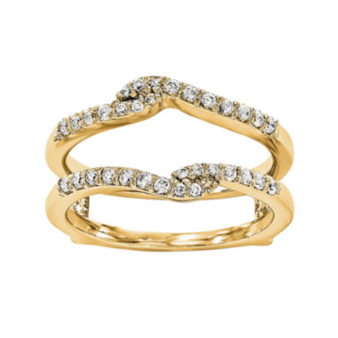 jcpenney.com | 1/4 CT. T.W. Diamond 14K Yellow Gold Ring Guard