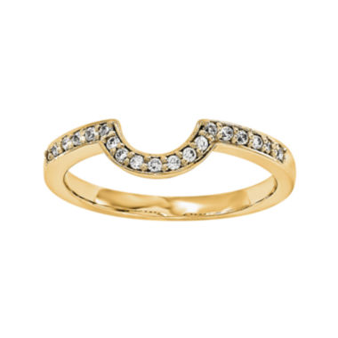 jcpenney.com | 1/5 CT. T.W. Diamond 14K Yellow Gold Ring Wrap