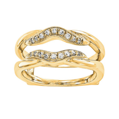 jcpenney.com | 1/5 CT. T.W. Diamond 14K Yellow Gold Rng Guard