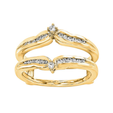 jcpenney.com | 1/5 CT. T.W. Diamond 14K Yellow Gold Ring Guard