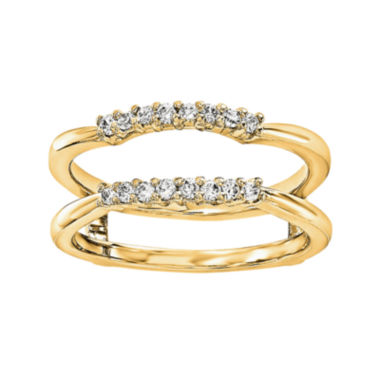 jcpenney.com | 1/6 CT. T.W. Diamond 14K Yellow Gold Ring Guard