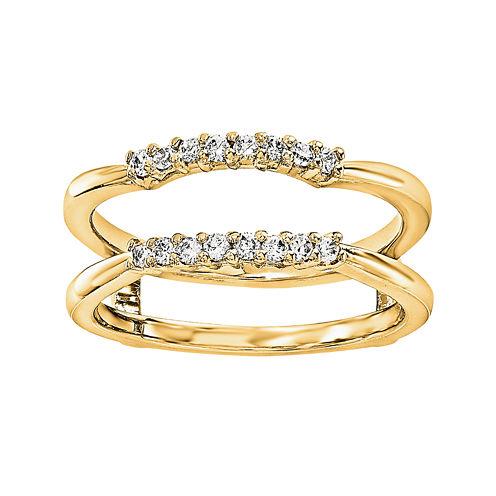 1/6 CT. T.W. Diamond 14K Yellow Gold Ring Guard
