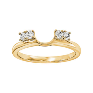 jcpenney.com | 1/7 CT. T.W. Diamond 14K Yellow Gold Ring Wrap