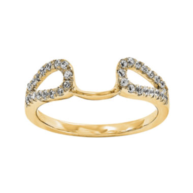 jcpenney.com | 1/8 CT. T.W. Diamond 14K Yellow Gold Ring Wrap