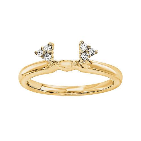 Diamond Accent 14K Yellow Gold Ring Wrap