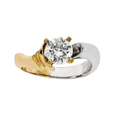 jcpenney.com | 1/2 CT. Diamond Two-Tone Solitaire Ring