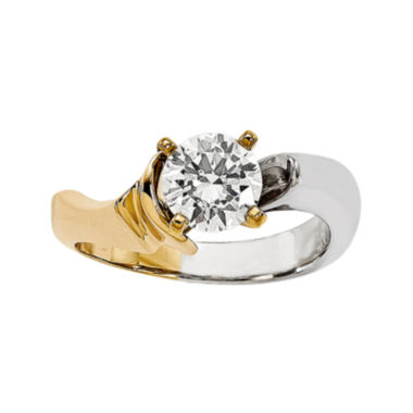 jcpenney.com | 1/2 CT. Diamond 14K Two-Tone Gold Solitaire Ring