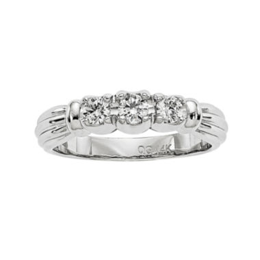 jcpenney.com | 1/3 CT. T.W. Diamond 14K White Gold 3-Stone Ring