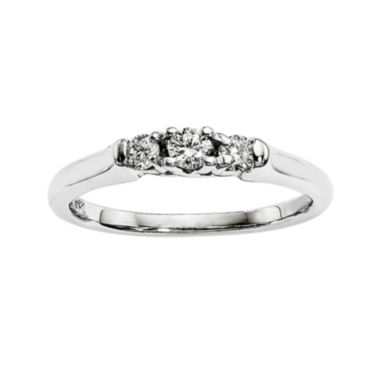 jcpenney.com | 1/5 CT. T.W. Diamond 14K White Gold 3-Stone Ring