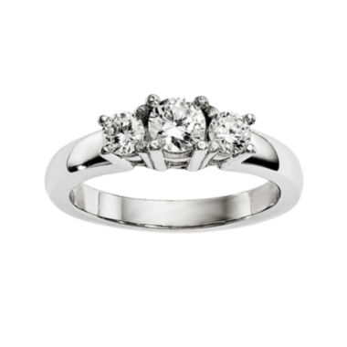 jcpenney.com | 3/4 CT. T.W. Diamond 14K White Gold 3-Stone Engagement Ring