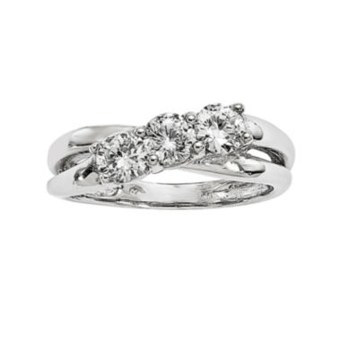 jcpenney.com | 7/8 CT. T.W. Diamond 14K White Gold 3-Stone Engagement Ring