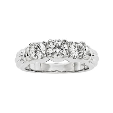 jcpenney.com | 1 1/4 CT. T.W. Diamond 14K White Gold 3-Stone Ring