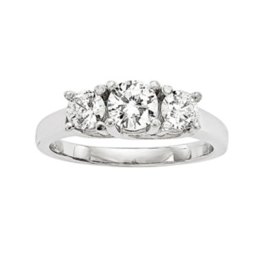 jcpenney.com | 1 CT. T.W. Diamond 14K White Gold 3-Stone Ring