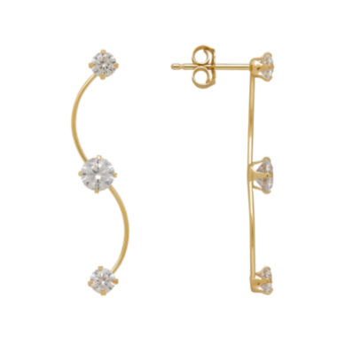jcpenney.com | 14K Yellow Gold Cubic Zirconia Climber Earrings