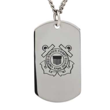 jcpenney.com | Coast Guard Sterling Silver Dog Tag Pendant Necklace