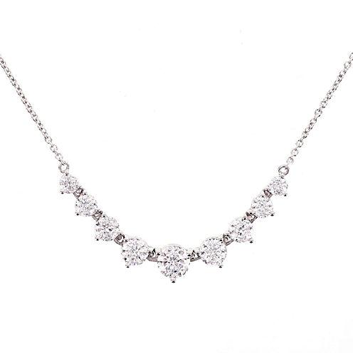 100 Facets by DiamonArt® Cubic Zirconia Graduated Necklace