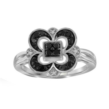jcpenney.com | 1/4 CT. T.W. White & Color-Enhanced Black Diamond Sterling Silver Ring