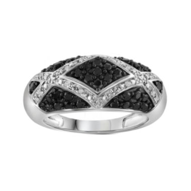 jcpenney.com | 1 CT. T.W. White & Color-Enhanced Black Diamond Sterling Silver Ring