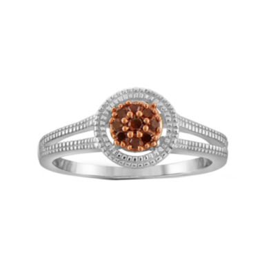 jcpenney.com | 1/10 CT. T.W. Color-Enhanced Red Diamond Sterling Silver Ring