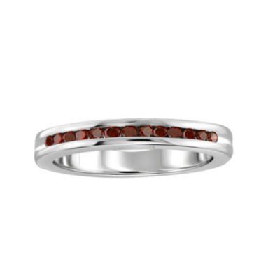 jcpenney.com | 1/4 CT. T.W. Color-Enhanced Red Diamond Sterling Silver Band Ring