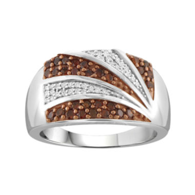 jcpenney.com | 1/2 CT. T.W. White & Color-Enhanced Red Diamond Sterling Silver Ring