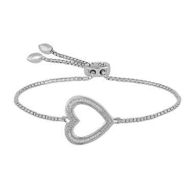 jcpenney.com | Rhythm and Muse Diamond Accent Sterling Silver Heart Bracelet