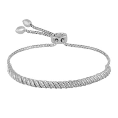 jcpenney.com | Rhythm and Muse 1/10 CT. T.W. Diamond Sterling Silver Bracelet