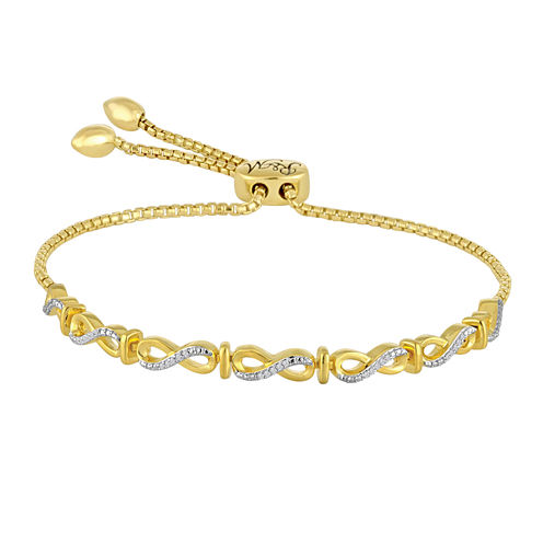 Rhythm and Muse 1/10 CT. T.W. Diamond 14K Yellow Gold Over Silver Infinity Bracelet
