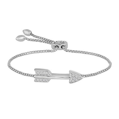 Diamond Accent Sterling Silver Bolo Bracelet