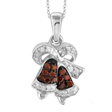 jcpenney.com | 1/10 CT. T.W. White & Color-Enhanced Red Diamond Sterling Silver Pendant