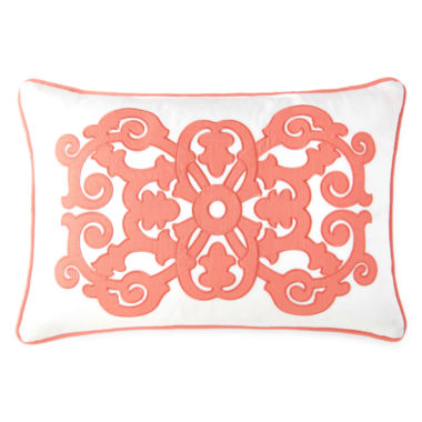 jcpenney.com | JCPenney Home™ Stonebridge Applique Oblong Decorative Pillow