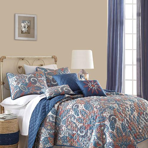 Pacific Coast Textiles Arcadia 6-pc. Reversible Quilt Set