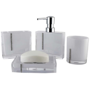 jcpenney.com | Crystal 4-pc. Bath Accessory Set