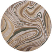 Donny Osmond Timeless by KAS Wood Grains Round Rug