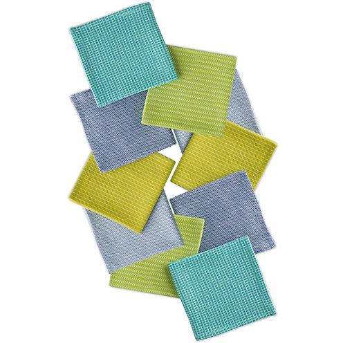 Design Imports Aruba Set of 10 Assorted Dishcloths