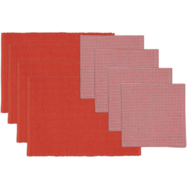 jcpenney.com | Design Imports Red Gelato Placemat and Check Napkin Set - Service for 4