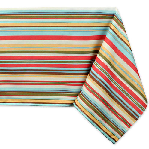 Design Imports Stripe Umbrella Tablecloth