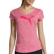Puma® Cap-Sleeve Heather Cat Tee