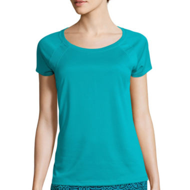 jcpenney.com | Made for Life™ Short-Sleeve Shirt Tail Mesh Raglan Tee - Tall